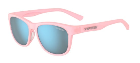 blush glasses with blue lens